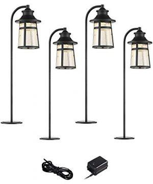Clement Black 6 Piece LED Landscape Path Light Set John Timberland 0 300x360