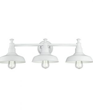 Design House 579656 Kimball Industrial Farmhouse Indoor Wall Light With Metal Shade Vanity White 0 300x360