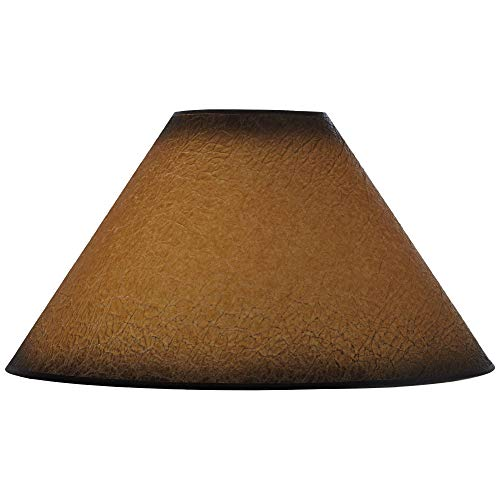 Distressed Faux Paper Large Lamp Shade 6 Top X 19 Bottom X 12 Slant X 1025 High Spider Replacement With Harp And Finial Brentwood 0
