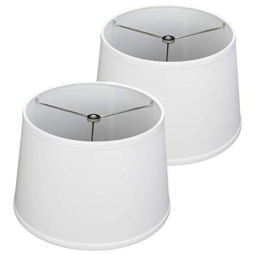 FenchelShadescom Set Of 2 Lampshades 10 Top Diameter X 12 Bottom Diameter X 8 Slant Height With Washer Spider Attachment For Lamps With A Harp 0