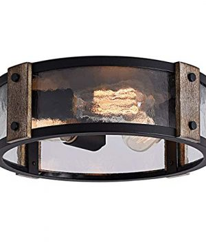 Flush Mount Ceiling Light 13 Inch Rustic Ceiling Light Fixture 3 Light Farmhouse Outdoor Lighting Fixtures Ceiling For Living Room KitchenBedroom Dining Room Foyer Hallway 0 300x360