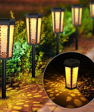 Fudosa Solar Pathway Lights Outdoor Solar Powered LED Landscape Lights IP65 Waterproof Garden Lamps For Yard Lawn Patio Walkway 6 Pack 0 300x360