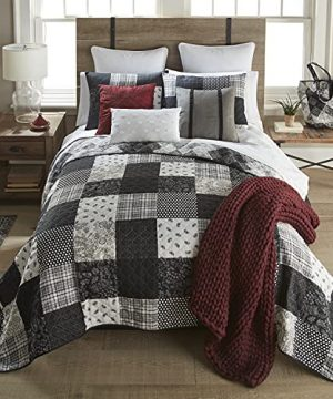 Full Queen Bedding Set 3 Piece London By Donna Sharp Contemporary Quilt Set With FullQueen Quilt And Two Standard Pillow Shams Fits Queen Size And Full Size Beds Machine Washable 0 300x360