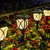 GIGALUMI Solar Pathway Lights Outdoor 6 Pack LED Solar Landscape Lights Waterproof Solar Powered Pathway Lights For Yard Patio Landscape Walkway Warm White 0 100x100