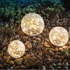 Garden Solar Lights Cracked Glass Ball Waterproof Warm White LED For Outdoor Decor Decorations Pathway Patio Yard Lawn 1 Globe 39 0 100x100