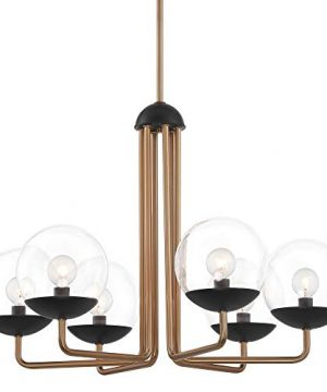 George Kovacs Outer Limits 20 Wide Painted Bronze 6 Light Chandelier 0 300x360