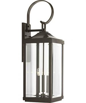 Gibbes Street Collection Antique Bronze Three Light Traditional Large Wall Lantern 0 300x360