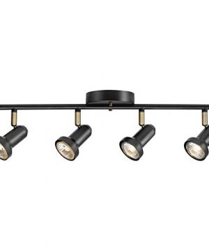 Globe Electric 59443 Melo 4 Track Lighting Antique Brass Accents Bulbs Included 531 Dark Bronze 0 300x360