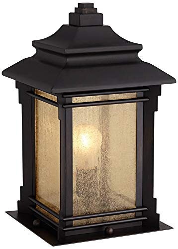 Hickory Point Asian Outdoor Light Fixture Bronze 165 Textured Glass For Exterior House Porch Patio Franklin Iron Works 0 0