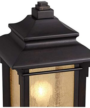 Hickory Point Asian Outdoor Light Fixture Bronze 165 Textured Glass For Exterior House Porch Patio Franklin Iron Works 0 1 300x360