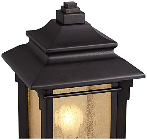 Hickory Point Asian Outdoor Light Fixture Bronze 165 Textured Glass For Exterior House Porch Patio Franklin Iron Works 0 1