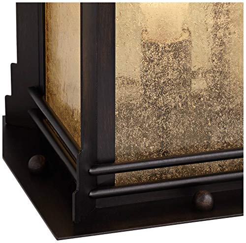 Hickory Point Asian Outdoor Light Fixture Bronze 165 Textured Glass For Exterior House Porch Patio Franklin Iron Works 0 2