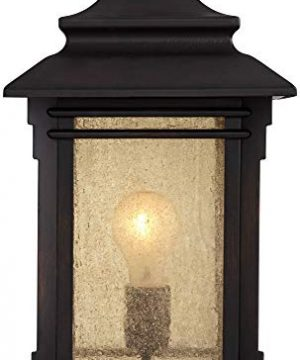 Hickory Point Asian Outdoor Light Fixture Bronze 165 Textured Glass For Exterior House Porch Patio Franklin Iron Works 0 3 300x360