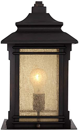 Hickory Point Asian Outdoor Light Fixture Bronze 165 Textured Glass For Exterior House Porch Patio Franklin Iron Works 0 3