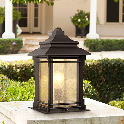 Hickory Point Asian Outdoor Light Fixture Bronze 165 Textured Glass For Exterior House Porch Patio Franklin Iron Works 0