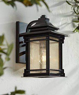 Hickory Point Farmhouse Rustic Mission Outdoor Wall Light Fixture Bronze Lantern 12 Frosted Cream Glass For Exterior House Porch Patio Outside Deck Garage Yard Front Door Home Franklin Iron Works 0 300x360