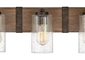 Hinkley Sawyer Collection Three Light Bathroom Vanity Fixture With Clear Seedy Glass Sequoia 0 300x213