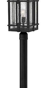 Hinkley Tucker Collection One Light Large Outdoor Post TopPier Mount Museum Black 0 194x360