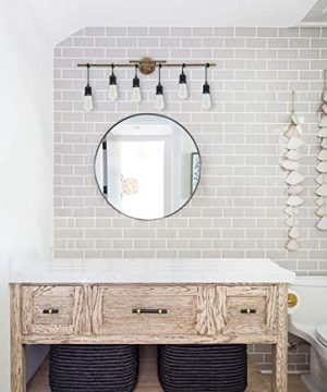 Homenovo Lighting 6 Light Farmhouse Bathroom Vanity Light Fixture 0 1 300x360