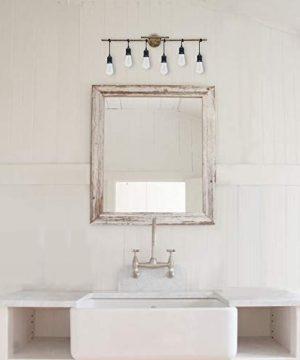 Homenovo Lighting 6 Light Farmhouse Bathroom Vanity Light Fixture 0 2 300x360
