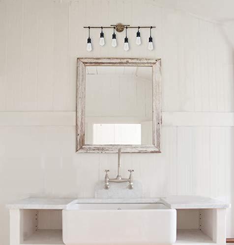 Homenovo Lighting 6 Light Farmhouse Bathroom Vanity Light Fixture 0 2