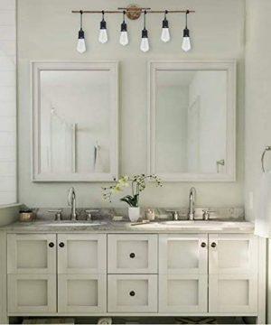 Homenovo Lighting 6 Light Farmhouse Bathroom Vanity Light Fixture 0 3 300x360
