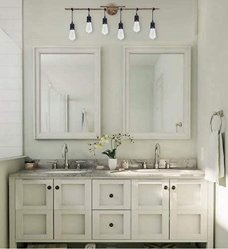 Homenovo Lighting 6 Light Farmhouse Bathroom Vanity Light Fixture 0 3