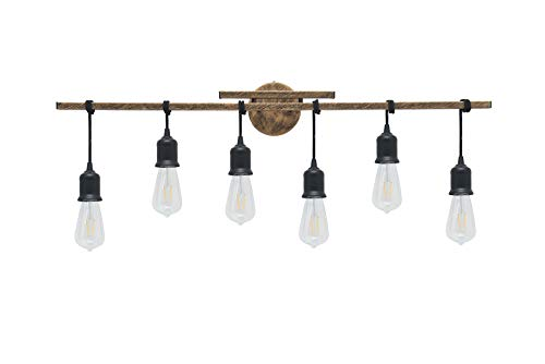 Homenovo Lighting 6 Light Farmhouse Bathroom Vanity Light Fixture 0