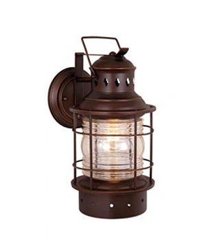 Hyannis 1 Light Bronze Coastal Lantern Cylinder Outdoor Wall Lantern Clear Glass 0 300x360