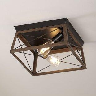 Kowalewski+2+-+Light+12''+Caged+Geometric+Flush+Mount