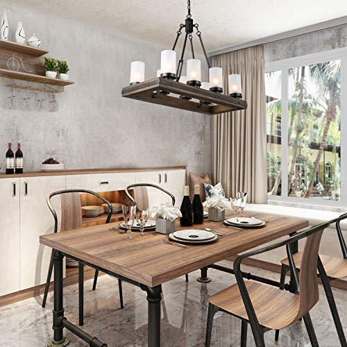 LNC A03487 Wood Chandelier Kitchen Island Lighting For Dining Rooms Restraunt Cafe Bar Counter Model 0 1