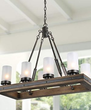 LNC A03487 Wood Chandelier Kitchen Island Lighting For Dining Rooms Restraunt Cafe Bar Counter Model 0 300x360