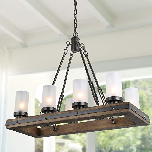 LNC A03487 Wood Chandelier Kitchen Island Lighting For Dining Rooms Restraunt Cafe Bar Counter Model 0