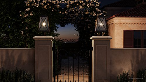 Luxury English Tudor Outdoor PostPier Light Large Size 2175H X 105W With Rustic Style Elements Olde Bronze Finish UHP1056 From The Saint Paul Collection By Urban Ambiance 0 0