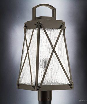 Luxury English Tudor Outdoor PostPier Light Large Size 2175H X 105W With Rustic Style Elements Olde Bronze Finish UHP1056 From The Saint Paul Collection By Urban Ambiance 0 1 300x360
