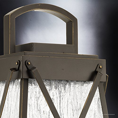 Luxury English Tudor Outdoor PostPier Light Large Size 2175H X 105W With Rustic Style Elements Olde Bronze Finish UHP1056 From The Saint Paul Collection By Urban Ambiance 0 2