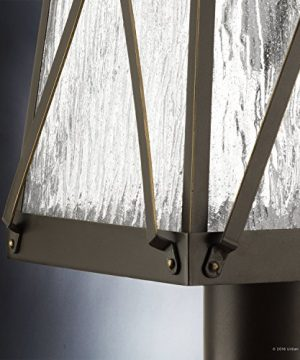 Luxury English Tudor Outdoor PostPier Light Large Size 2175H X 105W With Rustic Style Elements Olde Bronze Finish UHP1056 From The Saint Paul Collection By Urban Ambiance 0 3 300x360