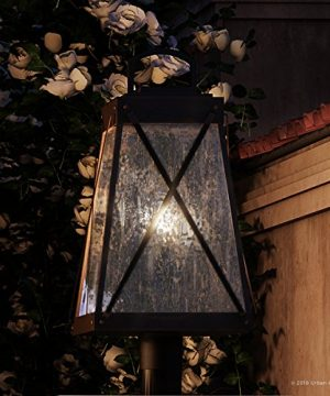 Luxury English Tudor Outdoor PostPier Light Large Size 2175H X 105W With Rustic Style Elements Olde Bronze Finish UHP1056 From The Saint Paul Collection By Urban Ambiance 0 300x360