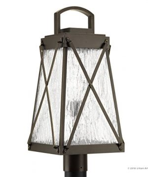 Luxury English Tudor Outdoor PostPier Light Large Size 2175H X 105W With Rustic Style Elements Olde Bronze Finish UHP1056 From The Saint Paul Collection By Urban Ambiance 0 5 300x360