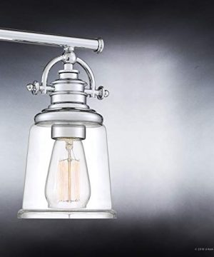 Luxury Industrial Bathroom Vanity Light Large Size 95H X 32W With Vintage Style Elements Polished Chrome Finish UQL2882 From The Salford Collection By Urban Ambiance 0 3 300x360