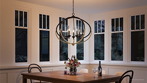 Luxury Mediterranean Chandelier Large Size 27875H X 3375W With Contemporary Style Elements Olde Bronze Finish And Clear Shade UHP2351 From The Baton Rouge Collection By Urban Ambiance 0 0