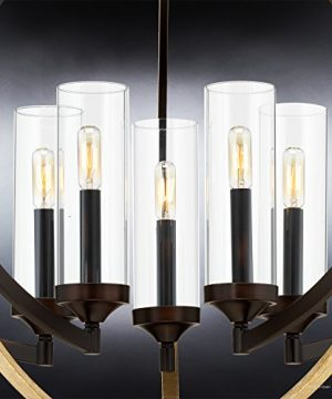 Luxury Mediterranean Chandelier Large Size 27875H X 3375W With Contemporary Style Elements Olde Bronze Finish And Clear Shade UHP2351 From The Baton Rouge Collection By Urban Ambiance 0 2 300x360