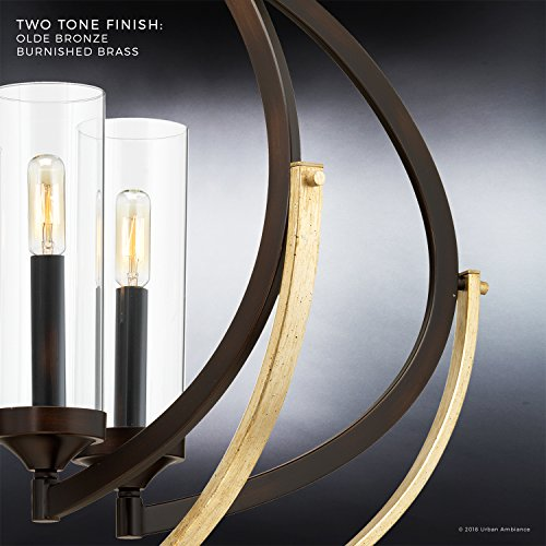 Luxury Mediterranean Chandelier Large Size 27875H X 3375W With Contemporary Style Elements Olde Bronze Finish And Clear Shade UHP2351 From The Baton Rouge Collection By Urban Ambiance 0 3