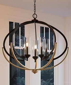 Luxury Mediterranean Chandelier Large Size 27875H X 3375W With Contemporary Style Elements Olde Bronze Finish And Clear Shade UHP2351 From The Baton Rouge Collection By Urban Ambiance 0 300x360