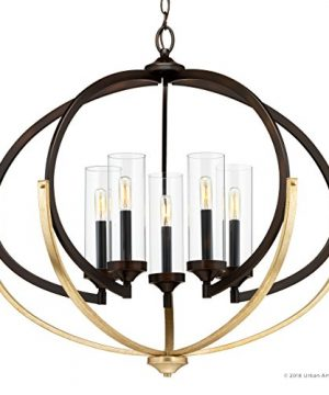 Luxury Mediterranean Chandelier Large Size 27875H X 3375W With Contemporary Style Elements Olde Bronze Finish And Clear Shade UHP2351 From The Baton Rouge Collection By Urban Ambiance 0 5 300x360