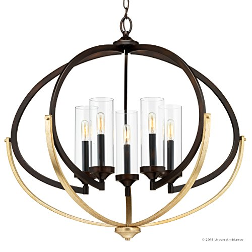 Luxury Mediterranean Chandelier Large Size 27875H X 3375W With Contemporary Style Elements Olde Bronze Finish And Clear Shade UHP2351 From The Baton Rouge Collection By Urban Ambiance 0 5