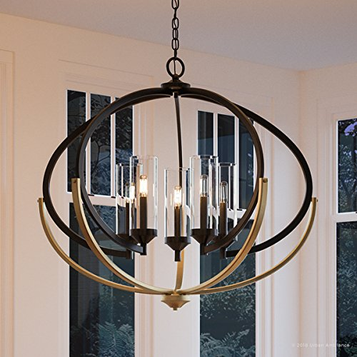 Luxury Mediterranean Chandelier Large Size 27875H X 3375W With Contemporary Style Elements Olde Bronze Finish And Clear Shade UHP2351 From The Baton Rouge Collection By Urban Ambiance 0