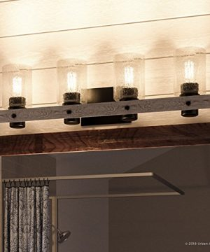 Luxury Modern Farmhouse Bathroom Vanity Light Large Size 85H X 32875W With Rustic Style Elements Charcoal Finish UHP2486 From The Adelaide Collection By Urban Ambiance 0 300x360