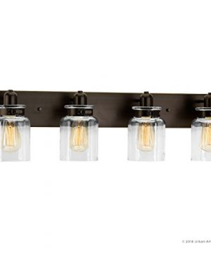 Luxury Modern Farmhouse Bathroom Vanity Light Large Size 8625H X 3025W With Industrial Style Elements Olde Bronze Finish UHP2145 From The Bridgeport Collection By Urban Ambiance 0 5 300x360