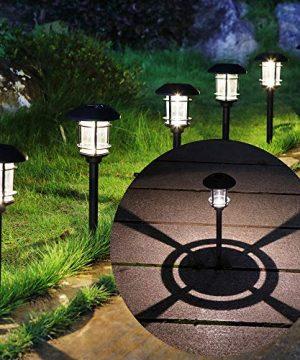 MAGGIFT 6 Lumen Solar Powered Pathway Lights 6 Pack Outdoor Landscape Lights Waterproof Solar Garden Lights For Lawn Patio Yard Walkway Deck Driveway Warm White 0 300x360